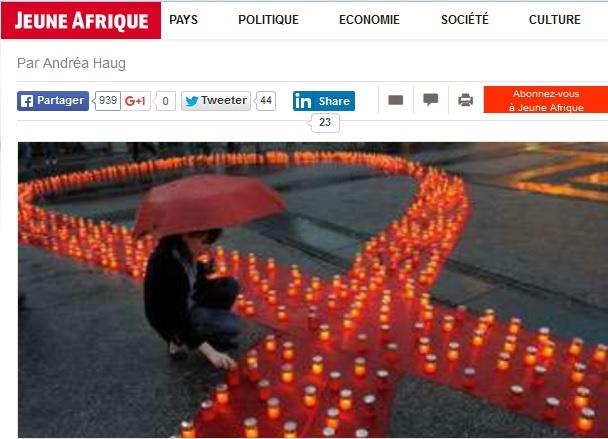 L'épidémie est en baisse constante depuis 2005. © Jeune Afrique / AFP
